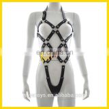 Sexy Leather Teddy Harness Fetish Bondage Costume Lingerie Body Restraint