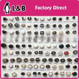 wholesale 2017 ABS Oil black plastic button sew-on shank abs plastic dome shank buttons