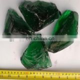 Natural green glass rock