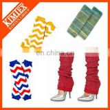 Wholesale winter knit lace leg warmers ladies