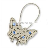 Custom metal keycahin crystal butterfly keyring wholesale