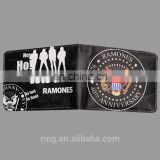 New Wallets RAMONES PU Leather Cool Black Purse Men Women