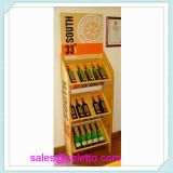 Wine wooden display shelves