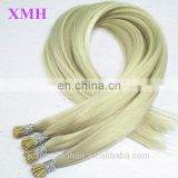 Best Selling Factory Price Soft Smooth Virgin Russian Hair Keratin Pre Bonded I Tip Hair Extension