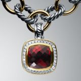 Designs Inspired DY Rose Gold Silver 11mm Garnet  Albion Enhancer