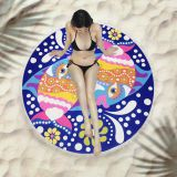 American and European style microfiber round fringed beach towel Sport Scarf Bohemian Swimming Bath Towel