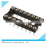 electronic 18 pin SMT gold plated male PCB 2.54mm DIP IC socket