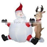 Factory custom lovely Merry Christmas decorative oxford cloth inflatable led Christmas santa