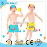 New arrival! quick dry boys swimming trunks with custom cute cartoon design                                                                         Quality Choice