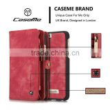 Free sample For i phone6 Leather Wallet covers, CaseMe for iphone 6 plus case cover, for iphone 6s plus case cover