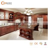 American style traditional solid wood kitchen cabinet design, kitchen cabinet vinyl wrap