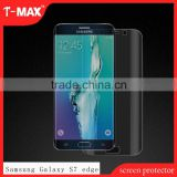 Wholesale 3D Curved Glass For samsung galaxy S7 Edge TPU screen protector,anti-fingerprint tempered glass screen protector