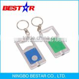 Mini LED key chain with 1 LED light and bottle opener