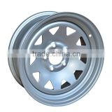 6JX15 silver finishing trailer wheel rim for sale