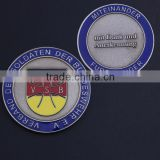 "1.38"" size, silver plated, sandblasting double size soft enamel Germany Challenge Coins for sale"