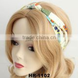 Women Cotton Turban Twist Headband Head Wrap Twisted Knotted Knot Soft Hair Band