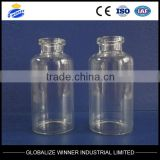 30ml clear tubular glass vial with aluminum cap with rubber stopper