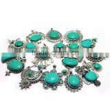 2015 wholesale synthetic turquoise baroque style jewelry turquoise pendants