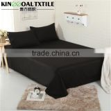 Natural 100% Cotton Black color King/ Queen King size bed sheet