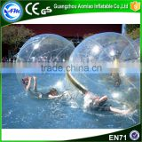 PVC transparent inflatable water ball dubai water floating light ball water filled weight ball for fun