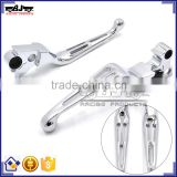 New Style Recommended Motorcycle Parts Chrome Billet Aluminum Clutch and Brake Lever For Harley