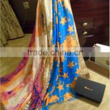 new design autumn fantasy bright and soft voile shawl scarf