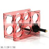 GH-RZ256 High quality Rectangle acrylic wine display rack, Colorful acrylic display rack