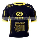 set style Rugby protection padded top short American Football pro combat compression gear padded protection wear