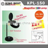 KING BEST 3X and 8X 360 Degree Rotation bright LED reading magnifier big screen illuminated magnifier LED Light
