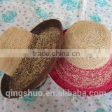 2014 Fashion mexican wide roll brim sombrero foldable straw hat                                                                         Quality Choice