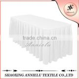 Hot sale polyester wedding banquet ruffled table skirt