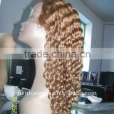2011 fashional style cheap blonde full lace wigs for woman long false wig