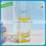 Machine blown christamas drinking glassware bottom square drinking mugs wholesale juice cool drinking glass