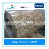 BRICK12/pre-painted brick grain ppgi color coated steel sheet in coils/painted ppgi/brick grain ppgi/ppgi made in China