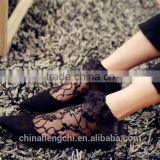 black lace sexy ankle boot socks