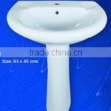 New Ceramic Pedestal Sink Washbasin
