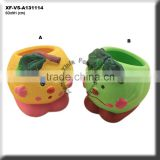 hand painting ceramic indoor planters for kids