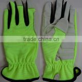 2015 NEw Design Gardening Gloves, Pig Leather safety Glove, Working Gloves, Protection Equipment, Lady Size