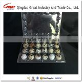 clamshell packaging plastic eggs Container plastic quail egg container 10/12 acounts holes