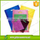Promotion heat transfer printing non woven shopping bag/die cut non woven bag/without logo/handle non-woven grocery bag