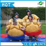 Top Selling 0.45mm PVC inflatable sumo wrestlers costumes, adult &kids sumo wrestling suits for sale
