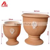 Clay large garden planters
