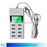 Wholesale 8 Port Portable Home Travel USB Charger Wall Charger With Lcd Display US Plug AC Power Adapter
