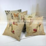 Factory direct cotton pillow case square pillowcase used for car ,sofa and seat cushion covers