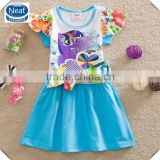 (Q9106) 2-6y 2 colors neat brand kids garments newest lovely printed my little pony party dresses girls summer frocks