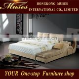 Drawer bed modern bedroom furniture king size bed bedside table furniture hotel adult loft bed B80033