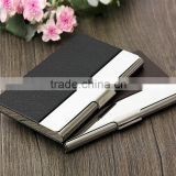 black or brown aluminium wallet business card holder