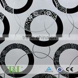 Circle design embossed pvc black and white wallpaper
