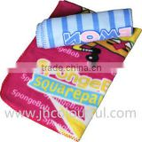 printing fleece blanket baby with satin trim baby blanket manufacturers china