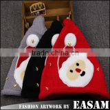 2015 New design santa design wool knitted cute winter christmas hat